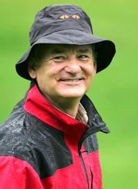 Bill Murray at the second round of the AT&T Pebble Beach National Pro-Am.