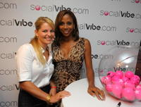 Candace Cameron and Holly Robinson Peete at the SocialVibe.com And HollyRod 4 Kids Kick-Off Event.