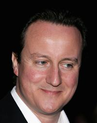 David Cameron at the Conservative Party Black and White Ball.