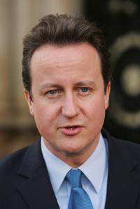 David Cameron at his visit to Bradford.