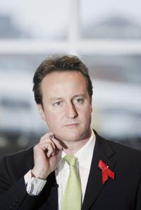 David Cameron at an discussion with the