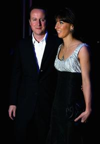 David Cameron and his wife Samantha at the Conservative Party Black and White Ball.