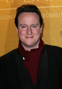 David Cameron at the Morgan Stanley Great Britons 05 awards ceremony.