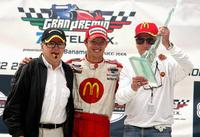 Paul Newman and Sebastian Bourdais with Carl Haas at the Champ Car World Series GP.