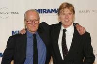 Paul Newman and Robert Redford at the Westport Country Playhouse gala benefit dinner.