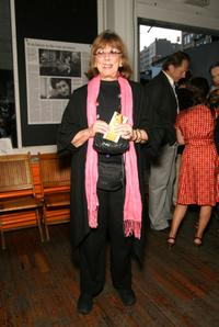Phyllis Newman at the opening of Guantanamo: