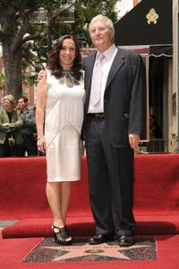 Gretchen Preece and Randy Newman at the Hollywood Walk of Fame star ceremony.