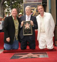 John Lasseter, Randy Newman and Eric Idle at the Hollywood Walk of Fame star ceremony.