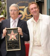 Randy Newman and Eric Idle at the Hollywood Walk of Fame star ceremony.