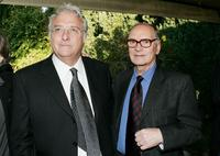Randy Newman and Ennio Morricone at the Society of Composers and Lyricists Annual Champagne Reception.