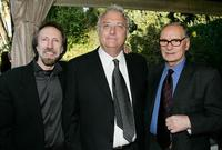 Charles Bernstein, Randy Newman and Ennio Morricone at the Society of Composers and Lyricists Annual Champagne Reception.