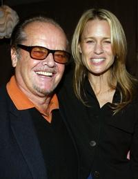 Jack Nicholson and Robin Wright Penn at the after party Premiere Lounge for