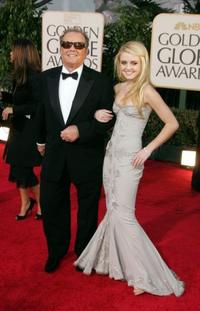Jack Nicholson and daughter Lorraine Nicholson at the 64th Annual Golden Globe Awards.