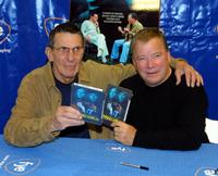Leonard Nimoy and William Shatner at the signing of released DVD/VHS of