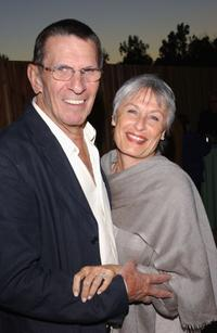 Leonard Nimoy and his wife at the Los Angeles premiere of