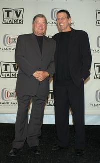 Leonard Nimoy and William Shatner at the 2005 TV Land Awards.