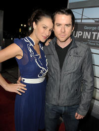 America Olivo and Christian Campbell at the California premiere