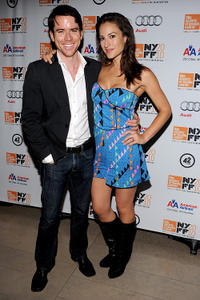 Christian Campbell and America Olivo at the premiere