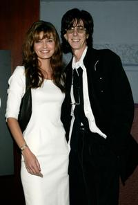 Paulina Porizkova and her husband Ric Ocasek at the launch of