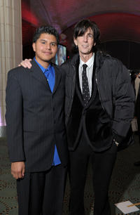 Honoree Daniel Juarez and Ric Ocasek at the 20th Anniversary Celebration of the Children's Defense Fund's Beat the Odds Program.