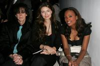 Ric Ocasek, Aisha Tyler and Paulina Porizkova at the Michon Schur Fall 2007 fashion show during the Mercedes-Benz Fashion Week.