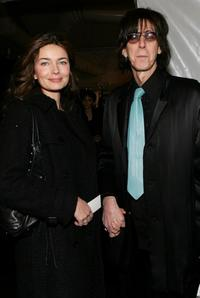 Paulina Porizkova and Ric Ocasek at the Michon Schur Fall 2007 fashion show the during Mercedes-Benz Fashion Week.