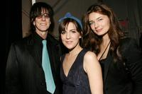 Ric Ocasek, Stephanie Schur and Paulina Porizkova at the Michon Schur Fall 2007 fashion show the during Mercedes-Benz Fashion Week.