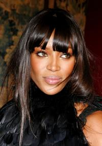 Naomi Campbell at the fashion industry's battle against HIV/AIDs at the