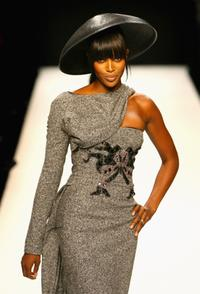 Naomi Campbell at a Fashion Relief Show during the London Fashion Week 2007.