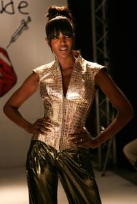 Naomi Campbell at the Boy George And B-Rude LFW Spring Summer 2008 show.