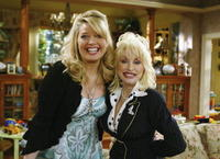 Melissa Peterman and Dolly Parton at the 20th Century Fox Studios.