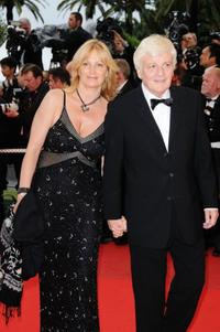 Jacques Perrin and Guest at the premiere of