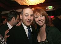 Paul Reubens and Cassandra Peterson at the after party of the premiere screening of