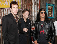 Slim Jim Phantom, Harry Dean Stanton and musician Slash at the opening night ceremony of Sunset Strip Music Festival's in California.