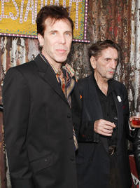 Slim Jim Phantom and Harry Dean Stanton at the opening night ceremony of Sunset Strip Music Festival's in California.