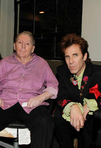 Jerry Lee Lewis and Slim Jim Phantom at the Jerry's 75th birthday concert in California.