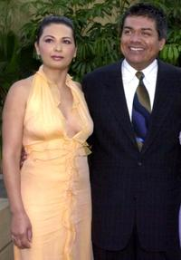 Elpidia Carrillo and George Lopez at the premiere of