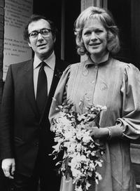 Harold Pinter and his wife Lady Antonia Fraser in London.