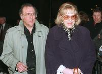 Harold Pinter and his wife Lady Antonia Fraser at The houses of Parliament in London.