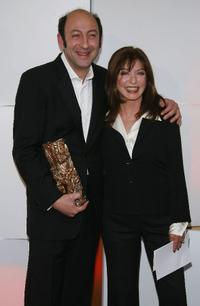 Kad Merad and Marie-France Pisier at the 32nd Cesars Film Awards ceremony.