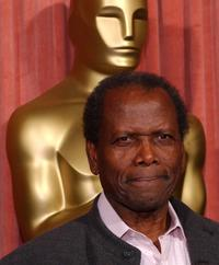 Sidney Poitier at the 74th Academy Awards Nominees Luncheon.