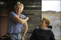 Roman Polanski and Ewan Mcgregor on the set of
