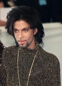 Prince at the De Beer and Versace