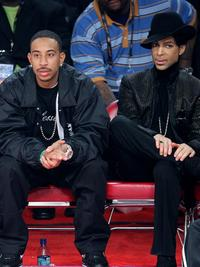 Rapper Ludacris and Prince at the 2007 NBA All-Star Game.