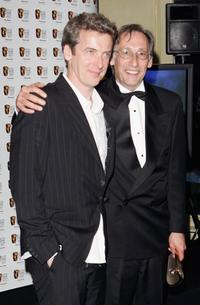 Peter Capaldi and Chris Langham at the Pioneer British Academy Television Awards 2006.