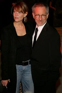 Kate Capshaw and Steven Spielberg at the Vanity Fair Oscar Party at Mortons.