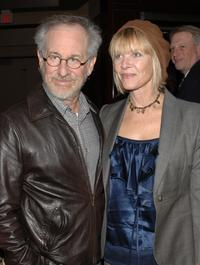 Kate Capshaw and Steven Spielberg at the CNN, LA Times, POLITICO Democratic Debate at the Kodak Theatre.