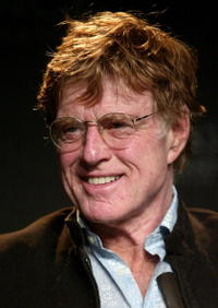 President of the Sundance Institute Robert Redford speaks at the 2006 Sundance Festival opening press conference in Park City, Utah.
