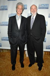 Rob Reiner and Rick Nicita at the ACLU of Southern California annual Bill of Rights Dinner.