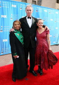 Dr. Mable John, John Sayles and Maggie Renzi at the 39th NAACP Image Awards.